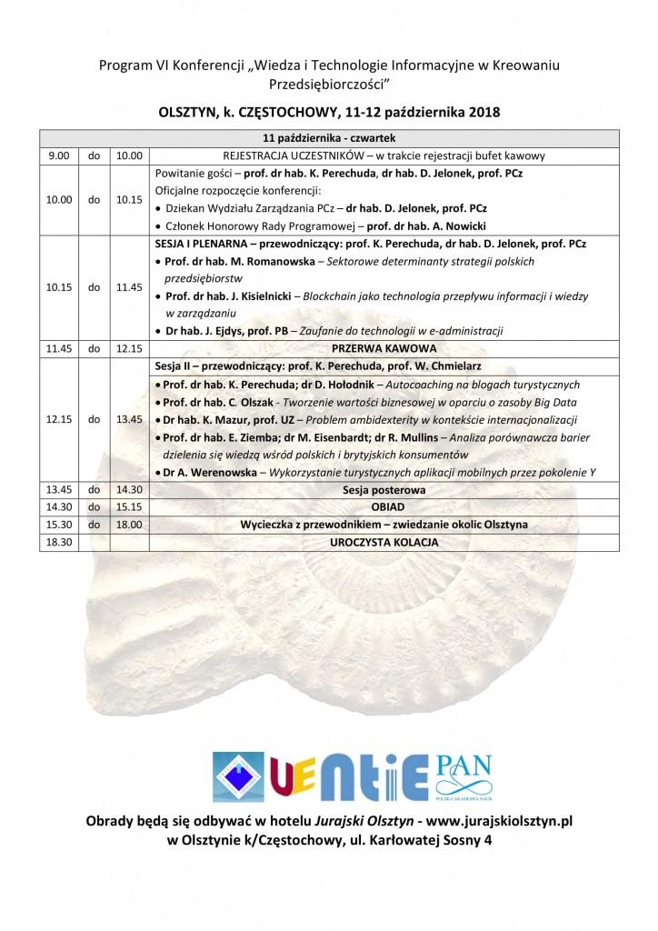Program konferencji 2018-2-1