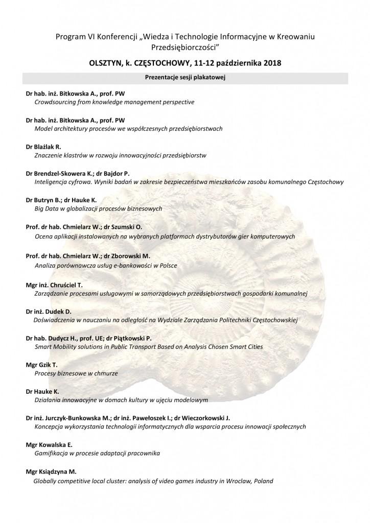 Program konferencji 2018-2-2
