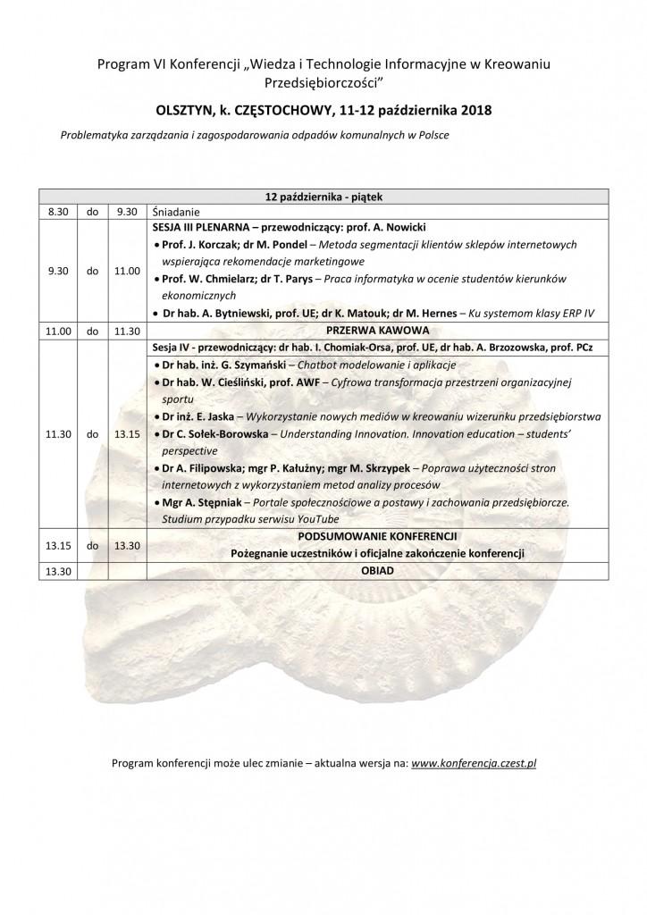 Program konferencji 2018-2-4